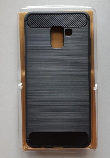 TPU maska BRUSHED za SM-A730F GALAXY A8 PLUS 2018 BLACK