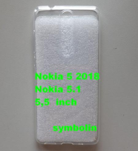 TPU maska ultra tanka 0,3mm za Nokia 5.1, Nokia 5 2018, providna