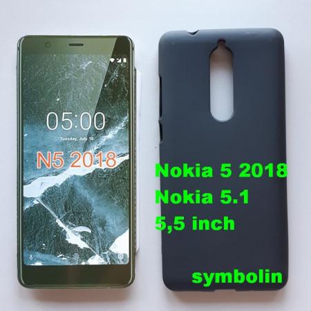 TPU Pudding maska za Nokia 5.1 NOKIA 5 2018, 5.5 inč Crna
