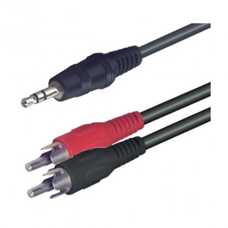 Audio kabl produžni 3,5mm muški RJA na 2 x RCA A49-5 - dužina 5 m