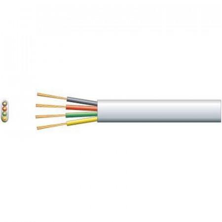Flat, pljosnati instalacioni telefonski kabl PG4 - beli - pakovanje 100m