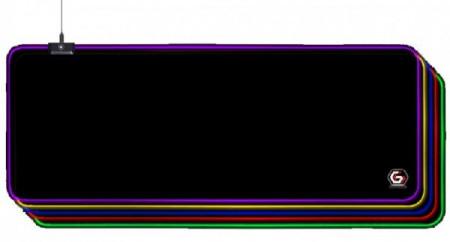Gejmerska podloga za miša Gembird MP-GAMELED-L od prirodne gume 350x800mm, 4mm RGB LED svetlo, LARGE