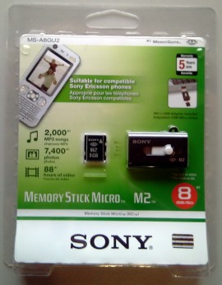 SONY MS micro M2 plus USB čitač/pisač - 8 Gb -