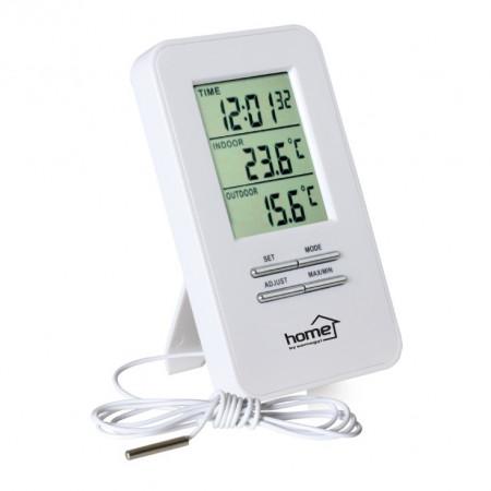 Stoni sat sa termometrom spoljne i unutrašnje temperature HOME HC12