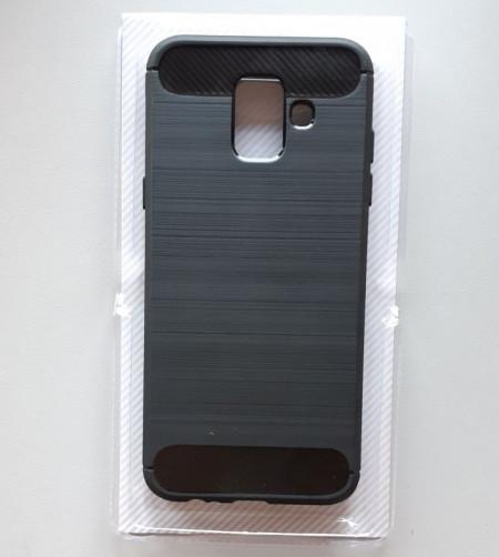 TPU maska BRUSHED za Samsung Galaxy A6 2018, SM-A600F, crna