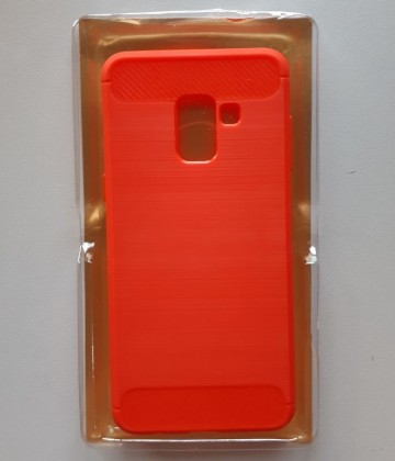 Slika TPU maska BRUSHED za SM-A730F GALAXY A8 PLUS 2018 RED