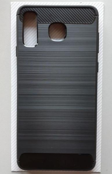 TPU maska BRUSHED za SM-G885F, Galaxy A8 Star 2018, crna