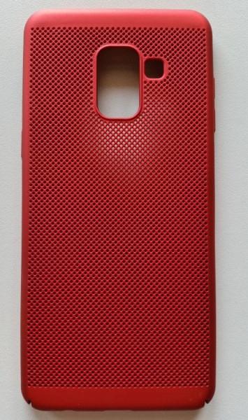 TPU/PC BREATH maska za SM-A530F GALAXY A8 2018, crvena