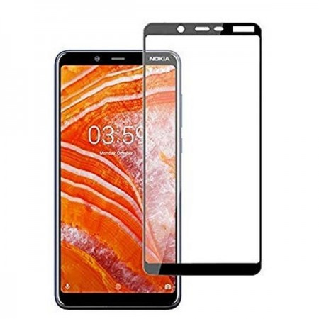 Zaštitno, kaljeno staklo 5D Full Glue za Glas Nokia 3.1 2018 (5.2) crni rub