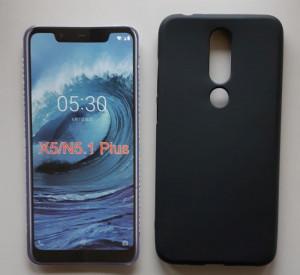"TPU Pudding maska za Nokia 5.1 Plus 2018, Nokia X5 2018 (5.86""),crna"
