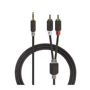 Audio Kabl HIFI RJA 3.5mm (muški) na 2 x RCA (muški) CABW22200AT100 - dužina 10m