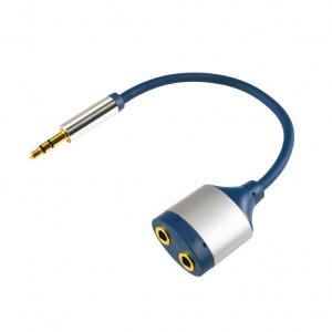 Audio kabl RJA 3,5mm na 2 x RJA ženski AC16M - dužina 15cm