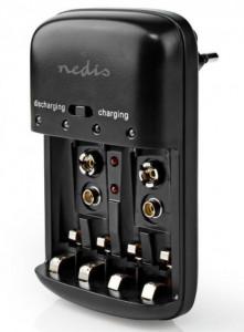 Punjač NiMh baterija, Nedis BACH07, AA/AAA/9V LED indikator