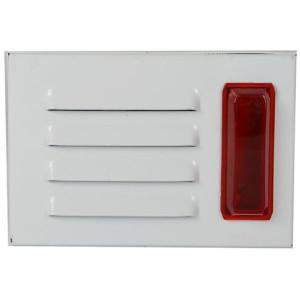 Sirena sa strob crvenim svetlom KF84, metalno kućište, jačina 115dB, napajanje 12VDC/350mA