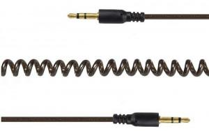 Spiralni audio kabl RJA 3.5mm muški na RJA 3.5mm muški stereo, Gembird CCA-405-6, 1.8m 10cm audio splitter kabl Gembird CCA-405-6