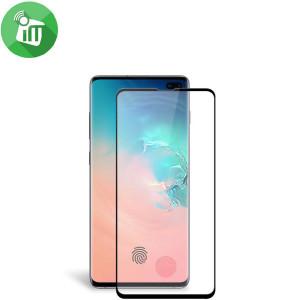 """Zaštitno staklo 5D FULL GLUE s RUPOM za Samsung SM-G975F, Galaxy S10 Plus 2019 (6.4"""") crni rub"""