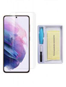 """Zaštitno staklo Tempered Glass 5D FULL GLUE UV za SAMSUNG SM-G991F, Galaxy S21 2021 (6.2"""") ravno, providno"""