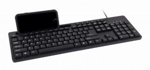 Žična USB tastatura Gembird KB-UM-108, 104 tastera, US raspored, s držačem za telefon