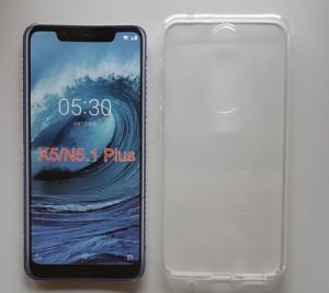 """TPU 0.3mm ultra tanka maska za Nokia 5.1 Plus 2018, Nokia X5 2018 (5.86""""), providna"""