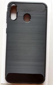 """TPU maska BRUSHED za Samsung SM-M205F, Galaxy M20 2019 (6.3""""), crna"""