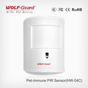Bežični PIR senzor Wolf Guard HW-04C imun na kućne ljubimce i jako svetlo, POVEĆAN DOMET