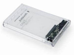 """Externo kuciste USB 3.0 za 2.5"""" SATA hard diskove 9,5mm transparentni, Gembird EE2-U3S9-6"""