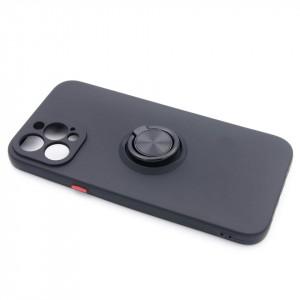 "TPU maska MATTE RING za iPhone 12 Pro Max2020 (6.7"") crna"