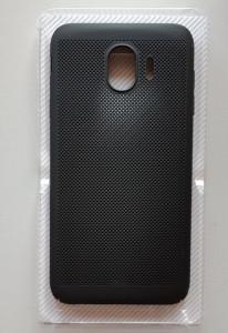 TPU/PC BREATH maska za SM-J400F Galaxy J4 2018, crna