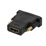 Adapter HDMI (F19) na DVI-D Single Link (M18+1) GOLD VC-004G