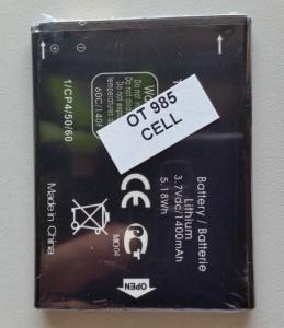 Baterija BY71, TLi014A1 za Alcatel OT-985, OT-4033D, Pop C3, Pop C2