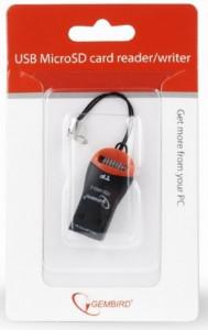 Čitač memorijskih kartica FD2-MSD-3 Gembird M2 MicroSD, privezak