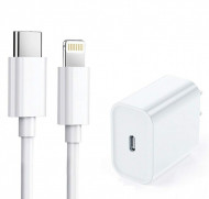 Punjač za IPhone 20W/3A + Type-C na IPhone Lightning cable, WEWO PD