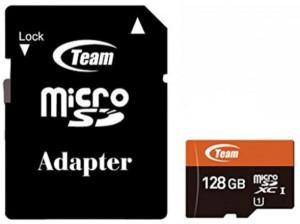 TeamGroup micro SDXC UHS-I + SD adapter TUSDX128GUHS03, CLASS 10, 128Gb