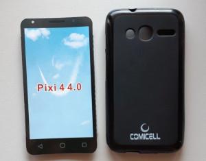 "TPU Maska PUDDING Alcatel OT-4034, Pixi 4 (4.0"") 2015, crna"