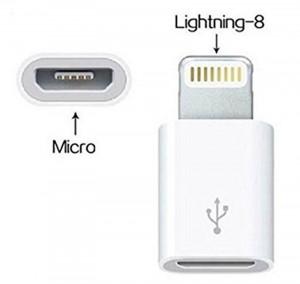 Adapter micro USB na iPhone 5, iPhone 6
