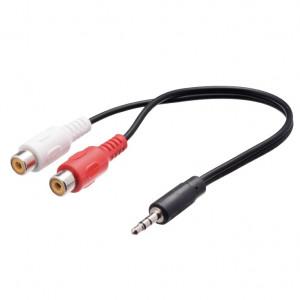 Audio kabl produžni RJA 3,5mm muški na 2 x RCA ženski AA49 - dužina 20cm