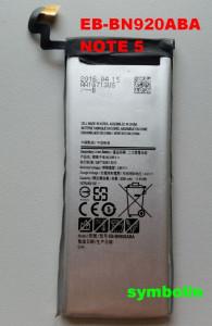 Baterija EB-BN920ABA za GALAXY NOTE 5 SM-N920T, SM-N9200