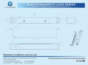 Elektromagnetna brava YM-280H (LED), jedna vrata, do 280 kg