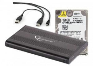 """HDD interni 2.5"""", HDD 2.5"""" + USB 2.0 SATA eksterno kućište * 320GB WD3200BUCT WD"""