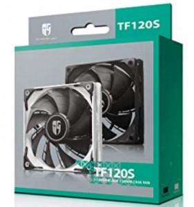 Hladnjak kućista 120x120x25mm, DeepCool TF120S BLACK, VENTILATOR Hydro Bearing 400-1800rpm 64CFM 32DB
