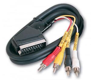 Kabl SCART na 4 x RCA , SCART na 4 x činč, 1,5m