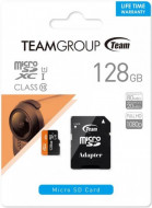 TeamGroup micro SDXC UHS-I + SD adapter TUSDX128GUHS03, CLASS 10, 128Gb