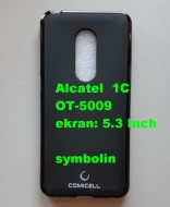 TPU Maska PUDDING Alcatel OT-5009, Alcatel 1C, crna