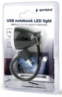 USB LED lampa za laptop Gembird NL-02, crna