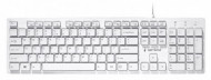 Žična USB tastatura Gembird KB-MCH-03-W, US raspored, bela, slim