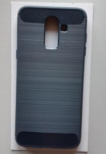 TPU BRUSHED maska za Galaxy SM-J810F, Galaxy J8 2018, tamno plava