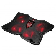 Kuler cooler hladnjak laptop MARVO FN-38 RED LED 4 ventilatora