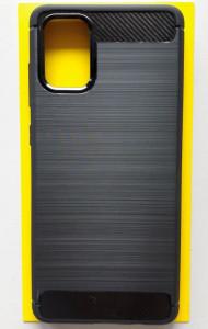 """TPU maska BRUSHED za Samsung SM-A715F Galaxy A71 2020 (6.7"""") crna"""