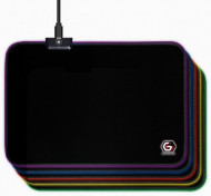 Gejmerska podloga za miša Gembird MP-GAMELED-M od prirodne gume 250x350mm, 4mm RGB LED svetlo, MEDIUM