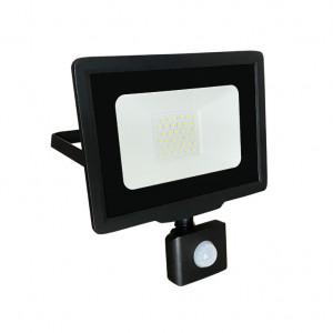 LED reflektor sa senzorom 30W Prosto LRF008SW-30/BK 6000K hladno bela
